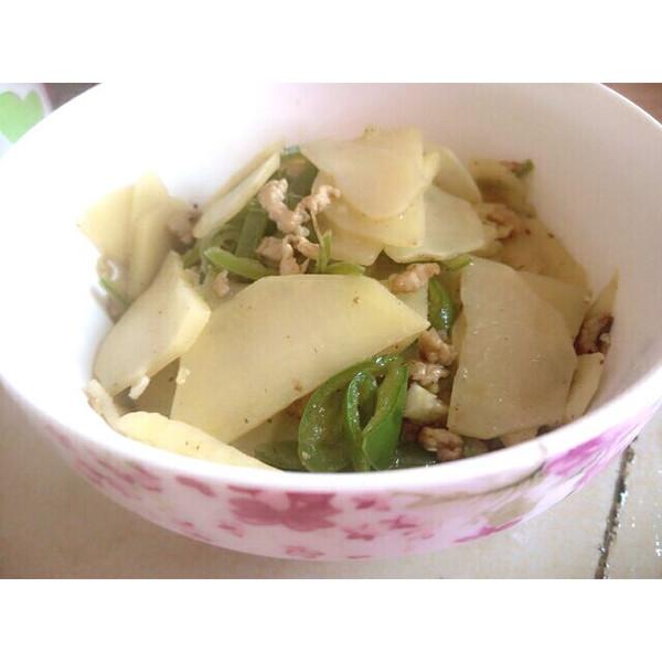 食客i生活的土豆片炒肉丝儿做法的学习成果照