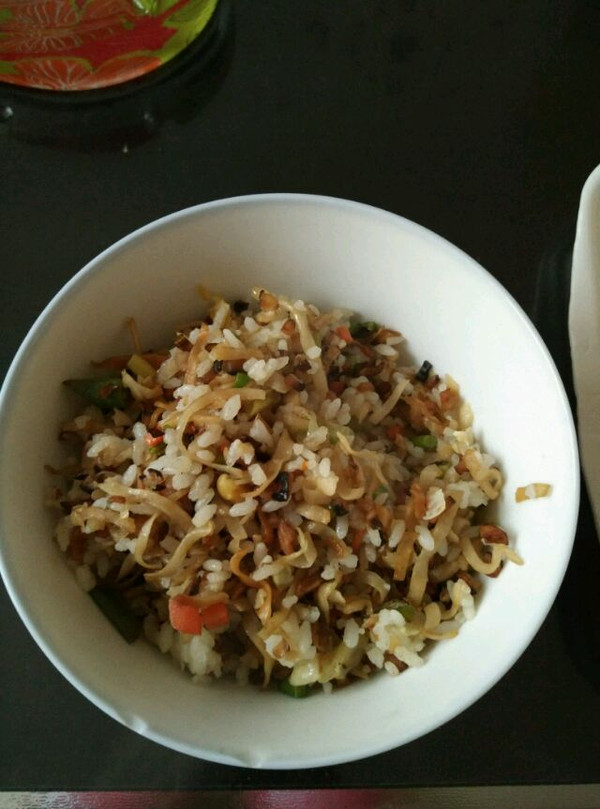 紫罗兰521的香菇炒大米做法的学习成果照