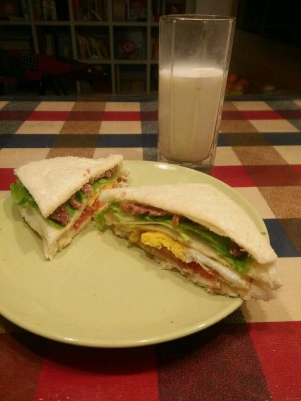 紫瑞的麻麻的自制三明治做法的学习成果照