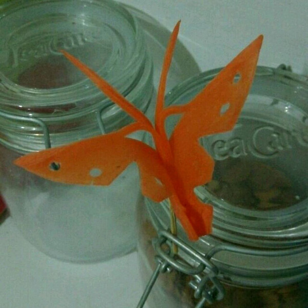 丹丹/aiq的胡萝卜蝴蝶做法的学习成果照