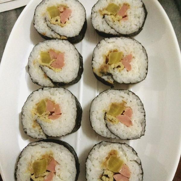 彩意的寿司做法的学习成果照