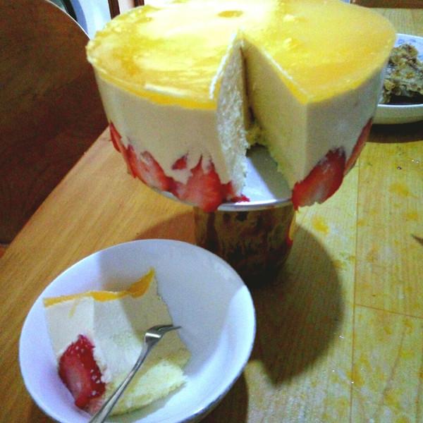 一诺乖乖的芒果慕斯蛋糕六寸做法的学习成果照