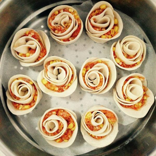 果果-何的玫瑰花卷饺子做法的学习成果照