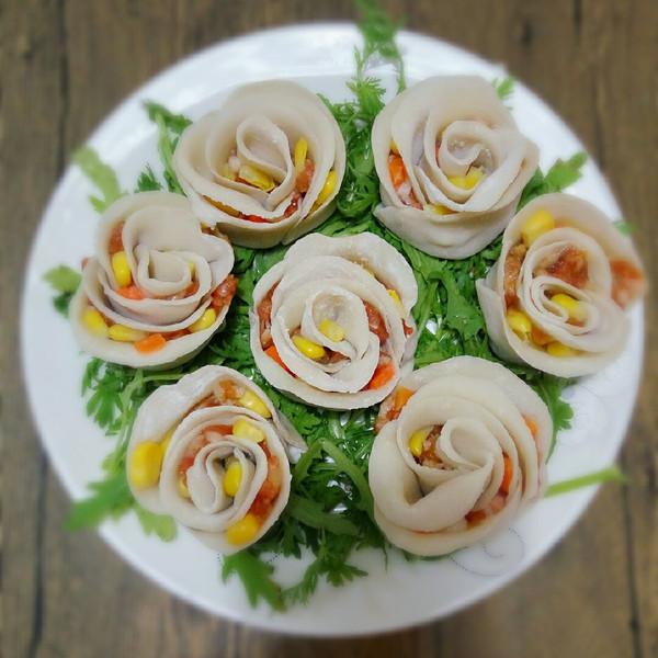 贝薇的玫瑰花卷饺子做法的学习成果照