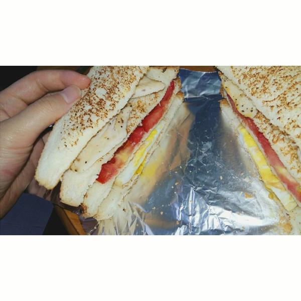 ohchen的香煎鸡胸肉三明治做法的学习成果照
