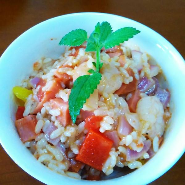 飞鱼豆豆的虾仁焖饭--利仁电火锅试用菜谱做法