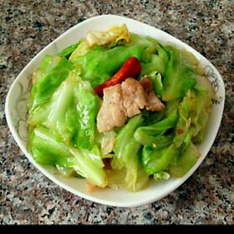 青椒圆白菜炒肉