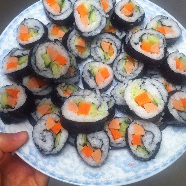 m的可爱寿司做法的学习成果照
