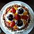 奶油水果夹心生日蛋糕