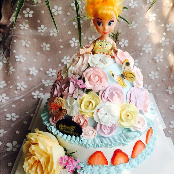 甜心头像烘培的给私房的芭比蛋糕女生的v头像成的做法qq女孩好看图片