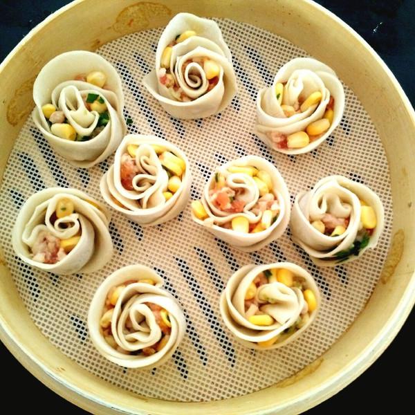 雷懿妈妈的玫瑰花卷饺子做法的学习成果照