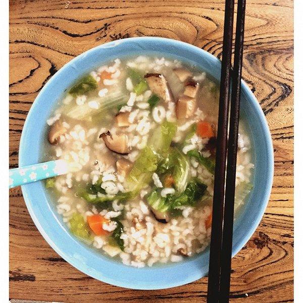 萝小厨的香菇胡萝卜青菜粥做法的学习成果照