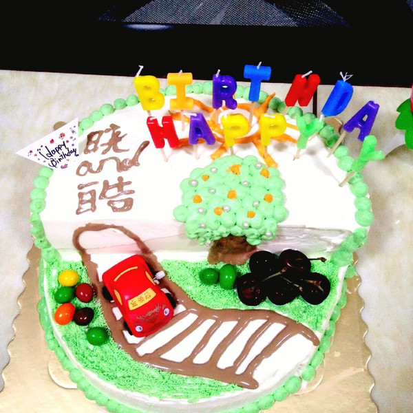 小汽车场景蛋糕