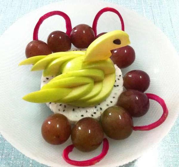 新奶爸的 苹果天鹅 手把手教你拼盘装饰 做法的学习成果照 豆果美食
