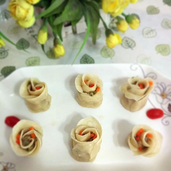 墨林妈妈的玫瑰花饺子做法的学习成果照_豆果美食