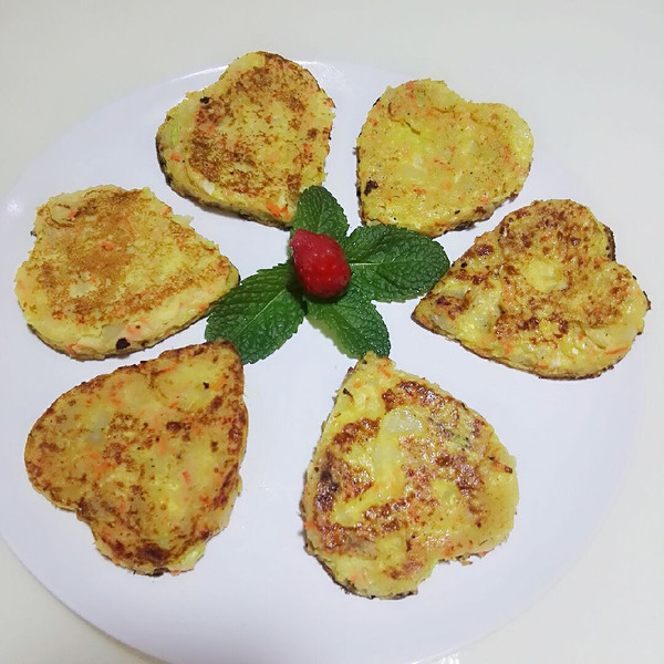 山子老婆的健康早餐土豆鸡蛋饼做法的学习成果照