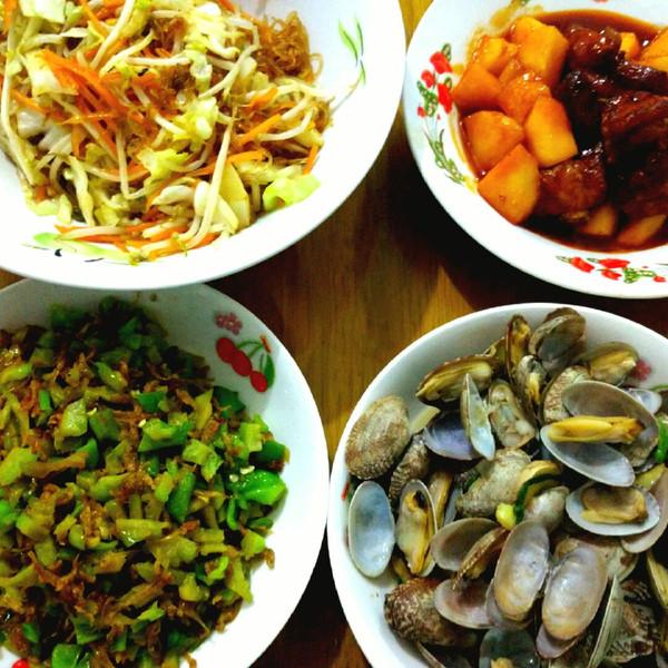 嘉欣靓的新菜,有些是在别人家吃回来自己改良蛤蜊要烧多久图片
