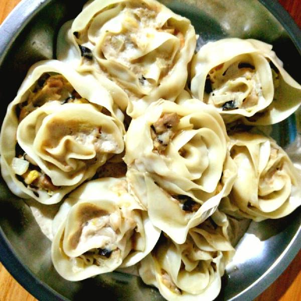 赵嘉b的玫瑰花卷饺子做法的学习成果照
