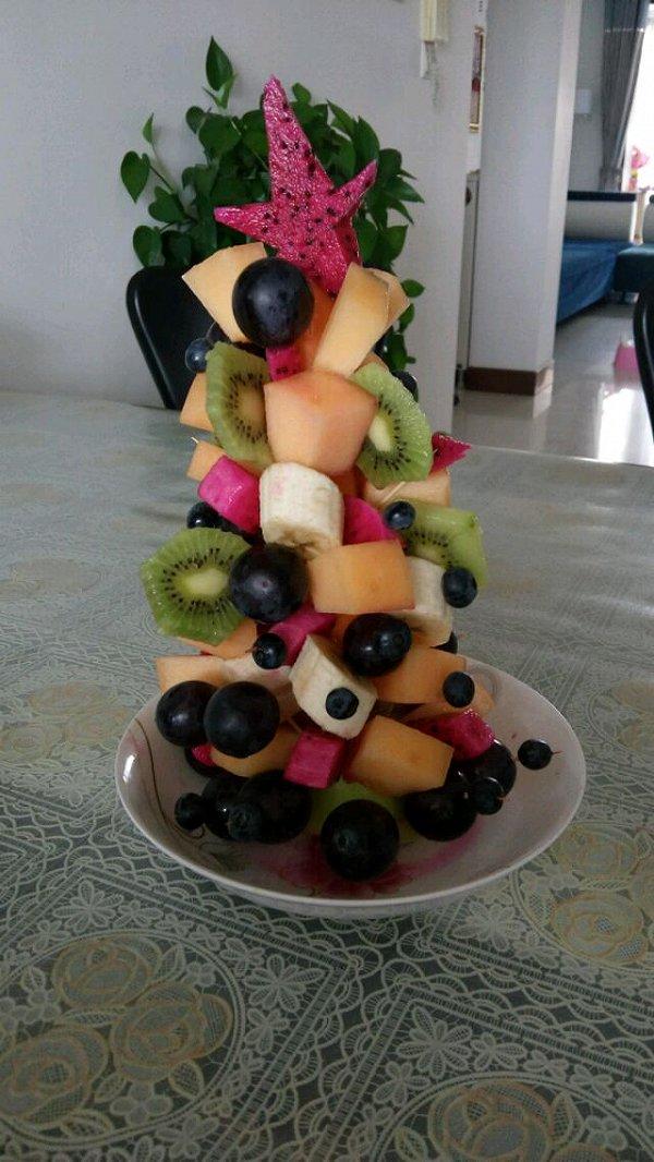 的水果圣诞树做法的学习成果照