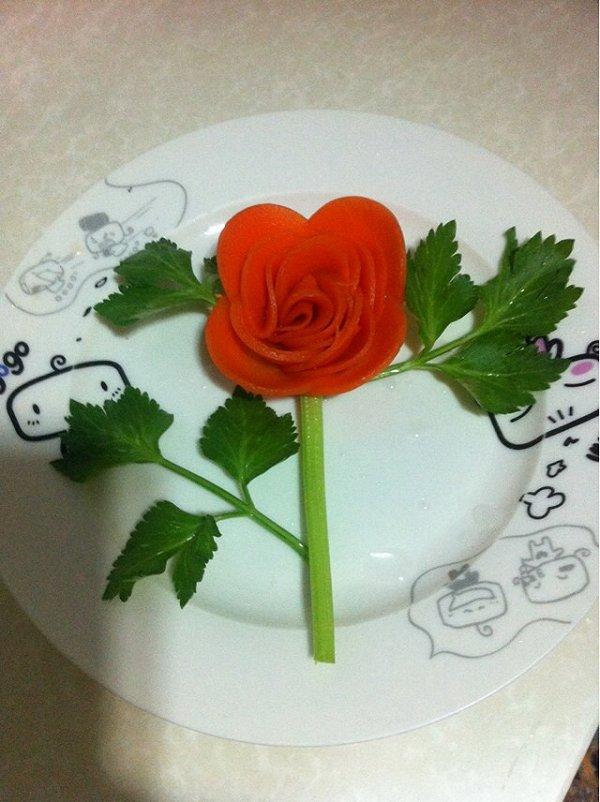 美食厨娘的胡萝卜玫瑰花做法的学习成果照