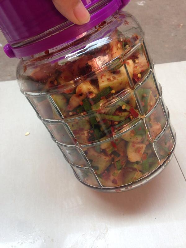 王璐8的韩式腌萝卜做法的学习成果照