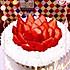 草莓奶油蛋糕(6寸戚风)