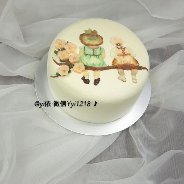 yi依刺绣蛋糕图片