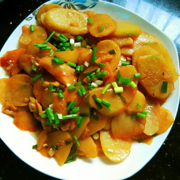 糊弄的红烧土豆片做法的学习成果照