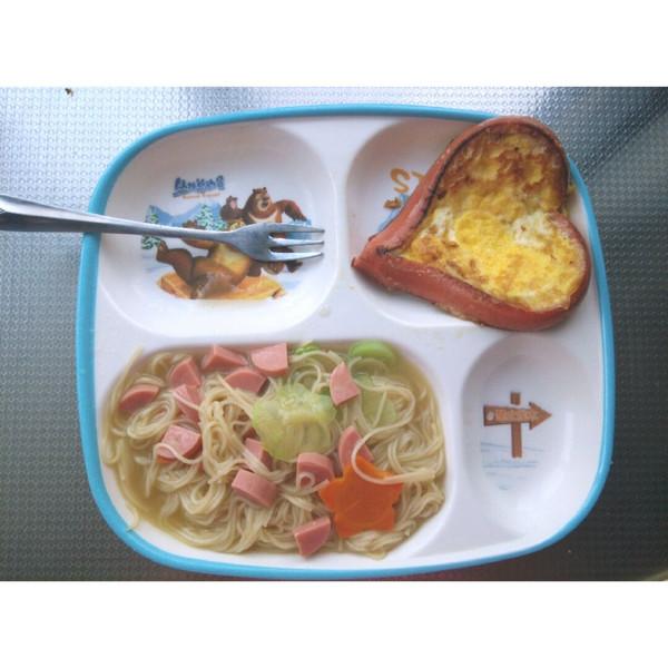 可爱的儿童早餐图片