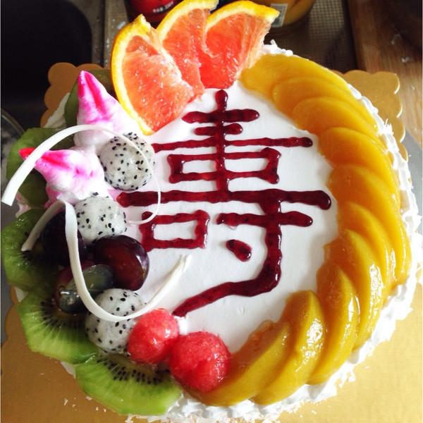 巧克力慕斯祝寿蛋糕