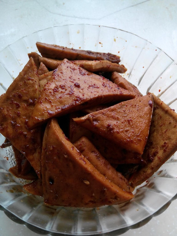 蓝色风铃zz的蜜汁豆干做法的学习成果照 豆果美食