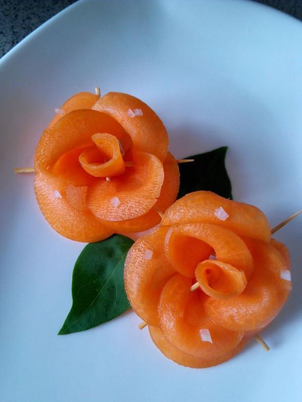 红罗卜玫瑰花