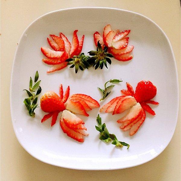 厨的年年有余 草莓果盘 做法的学习成果