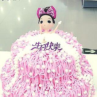 沐浴芭比娃娃蛋糕#豆果5周年