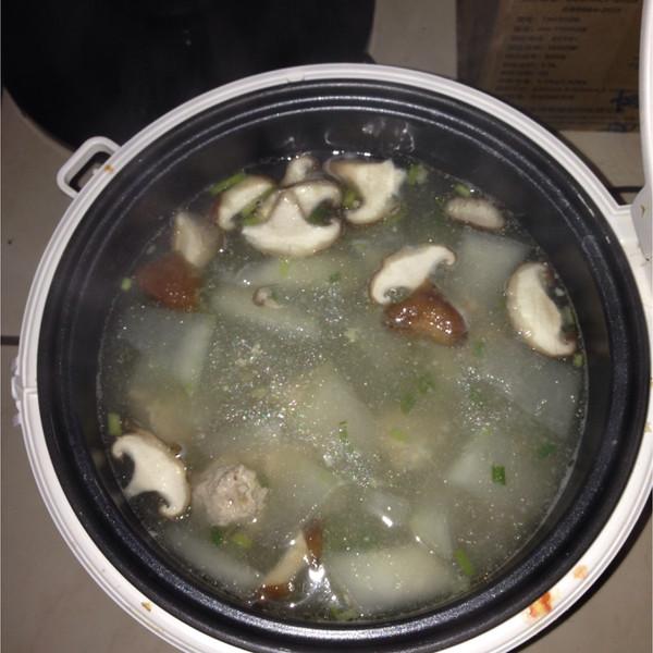 亲小宇的做法汆冬瓜汤丸子的v做法美食照_豆果成果大东虾图片