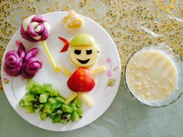 雨水季节的儿童早餐做法的学习成果照