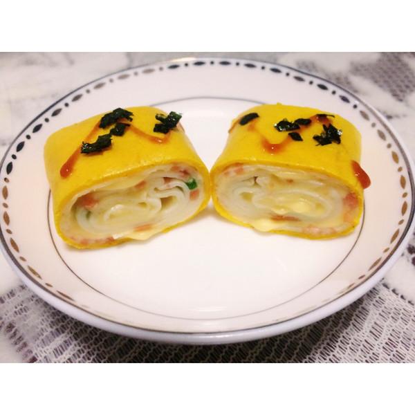 逗逗米娜的成果芝士厚蛋烧海苔的v成果美食照_哑34之厨做法图片