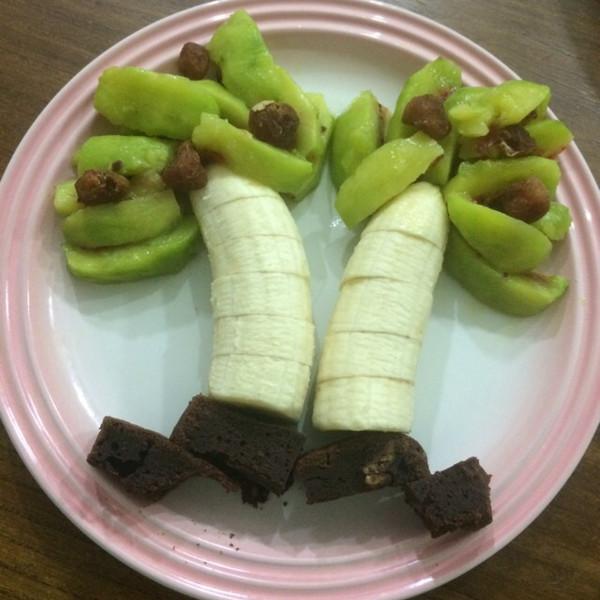 宝宝姚的椰树水果拼盘做法的学习成果照_豆果美食