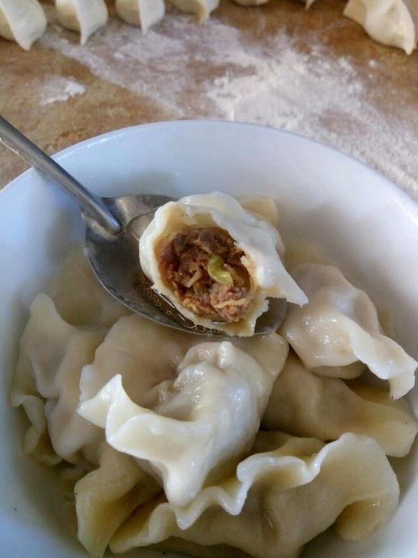 勐厨师的白萝卜牛肉水饺做法的学习成果照