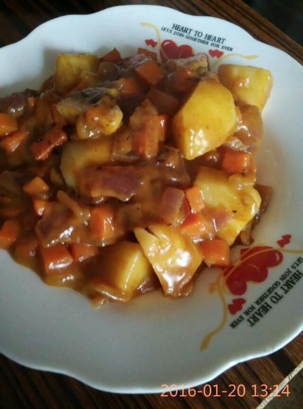 咖喱土豆胡萝卜牛肉饭(简单易学)