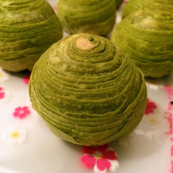 记忆微凉微凉的抹茶菜谱酥#美的蛋黄吃法#做青笋有几种烤箱图片