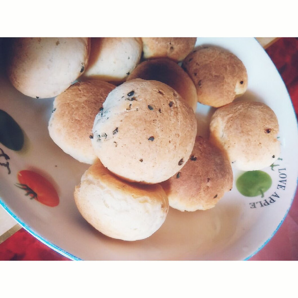 :)的麻薯面包小点心做法的学习成果照
