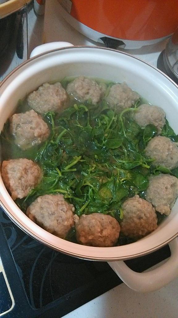晓可爱妈的青菜肉丸汤做法的学习成果照_豆果美食