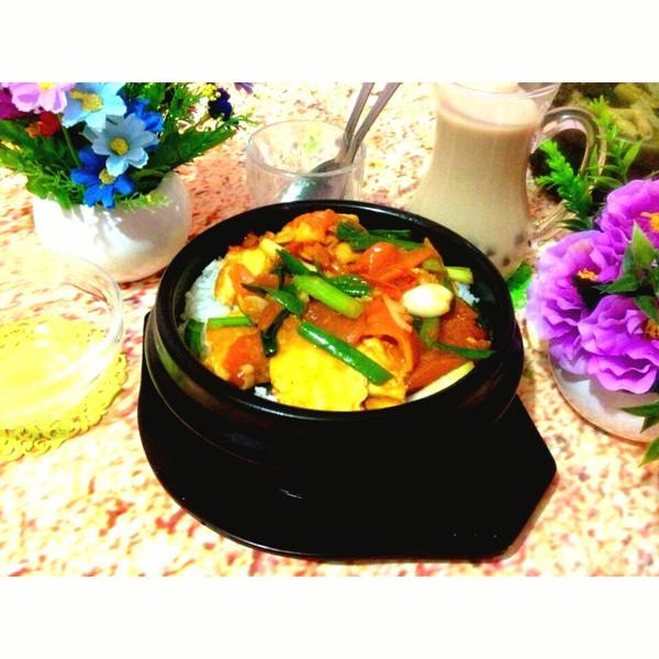 小可爱大可爱的西红柿炒蛋拌饭做法的学习成果照_豆果