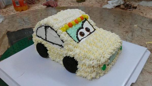 木木灯╰的小警车蛋糕做法的学习成果照