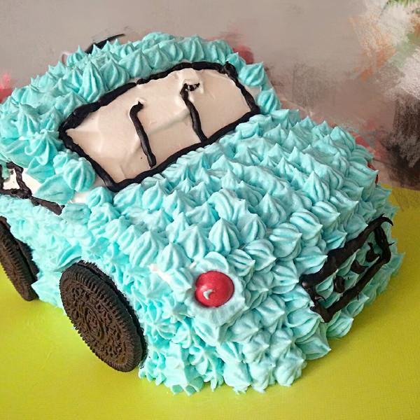 一蛋糕的水果屋的小汽车一家夹心甜品做法的学海马爱尚换雨刮器图片