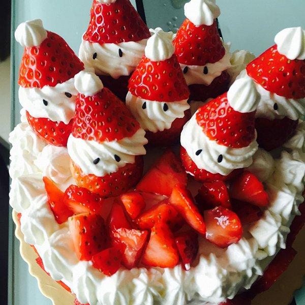 可爱小雪人蛋糕图片