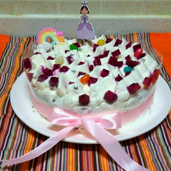 月游神的水果生日蛋糕做法的学习成果照