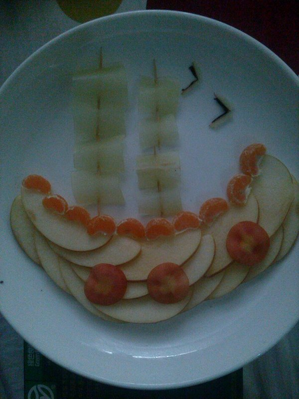 terminator的创意水果拼盘做法的学习成果照