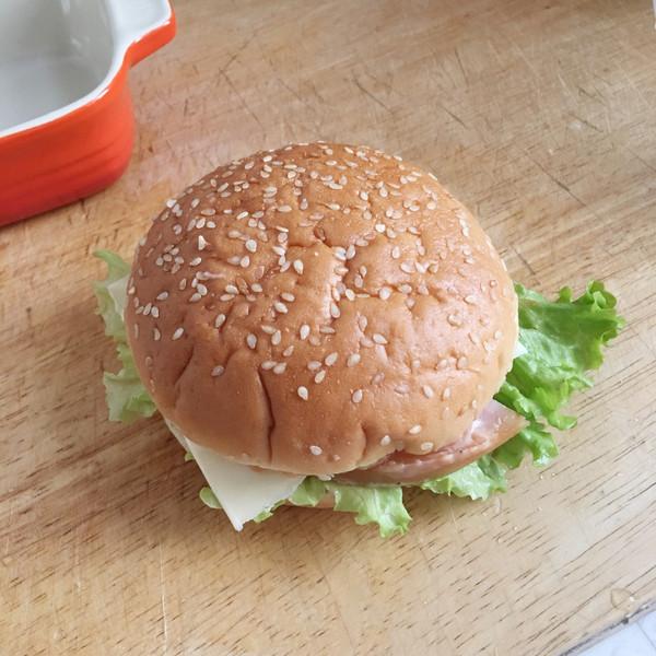 微凉besty0的一次发酵的汉堡包做法的学习成果照